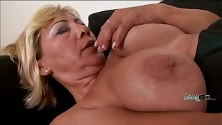 Blonde granny gets the BBC she wanted