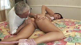 Old Man Fucks Hot Teen - HD