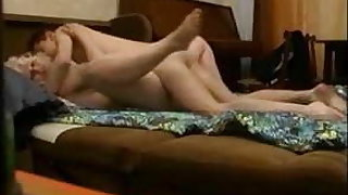 Curvy milf fucked by younger boy on hidden cam