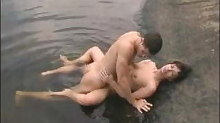 Good fucking on the nature mature woman and young guy
