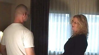 Mature MILF Ties Up And Bangs Young Repairman