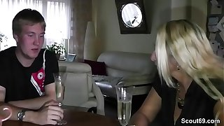 German Mom Teach Step-Son to Fuck at 18yr old Birthday