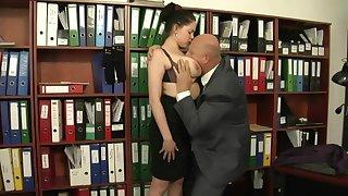 Extra Work For Busty Secretary