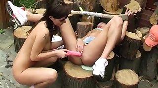 Lesbian tutor together with spy amateur teen fuck xxx Cutting wood