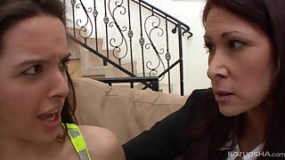 Jaslene Jade & Tiffany Mynx First Lesbian Sexual relations
