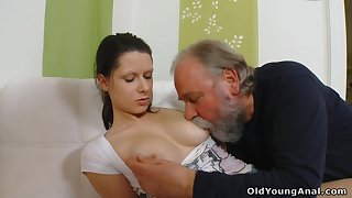 Curmudgeonly young bit of San Quentin quail Irene is seduced by plump gaffer who wanna fuck her