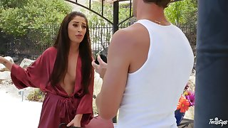 Latina phase Cameron Canela, in stockings loves to be penetrated
