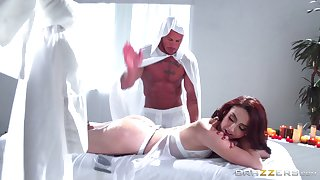 Redhead wife Mandy Muse has a BDSM fetish coupled with tries on Easy Street away