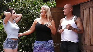 Keira Croft seduces bald directed boyfriend of whorish mommy Alura Jenson