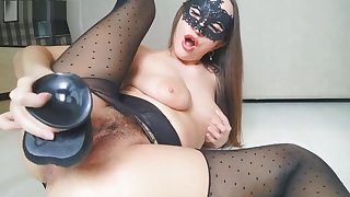 RIPPED PANTYHOSE RIPPED CREAM PUSSY AND Broad in the beam Ajar PUSSY