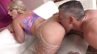 Blonde there puffy ass Lisey Sweet gives her head added to fucked anally