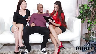 Two Czech milfs Mea Melone and Wendy Moon enjoy ass-to-mouth fuck