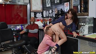 Surprising Isabel Moon caught getting boned in the pit-a-pat shop