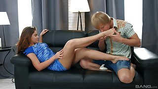 Mind blowing Russian action with creampie in the end