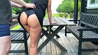sex with stepdaughter vanguard she leaves to school - morning outdoor quickie, projectsexdiary