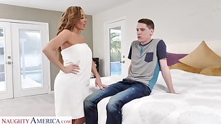 Drop dead gorgeous mommy Richelle Ryan fucks son's overcome friend