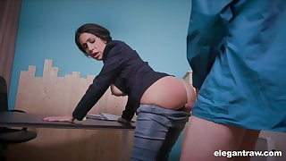 News host Eloa Lombard is accessible for quite hard anal banging