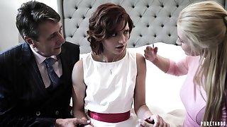 Pretty shy bride Elena Koshka has to suck pronounced fat cock damn admirable