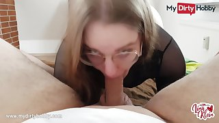 MyDirtyHobby - Nerdy spoil swallows for the first time POV