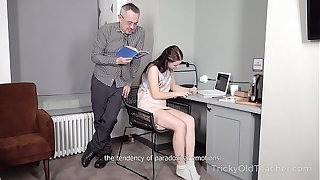 Tricky Old Teacher - Hottie achieves her goal with the help of hard sex