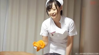 Japanese nurse drops her panties to be fucked by a patient