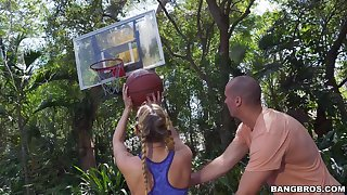 Sporty Haulier Yachting trip gets her cunt jam-packed after pickup basketball game