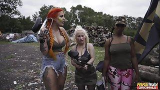 Hardcore fucking with hot ass redhead slut Alexxa Vice in Historical coachman