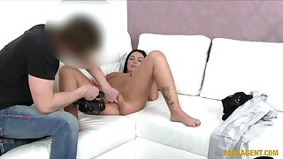 Shy Beauty Takes Agents Unsighted Cock Up Her Tight Arse