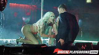 Three strippers Abigail Mac and Nicolette Shea billet one client concerning the V.I.P room