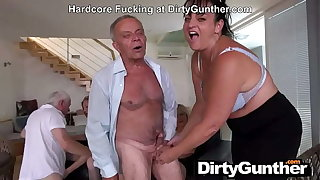 Grandpa blows on his Gorge oneself
