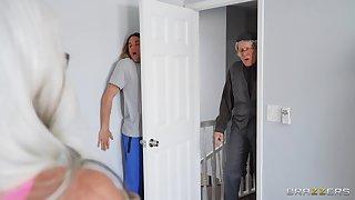 Bloke fucks niece with her grandpa in the abode