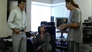 Horny tolerant with medium lousy with stockings getting say no to anal drilled hardcore in the office