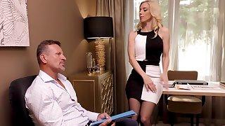 Blonde lover wearing nylon stockings in all directions hot ass - Katrin Casanova